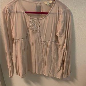 Light pink long sleeve top